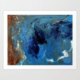 Copper Sands Against Deep Blue Sea Art Print