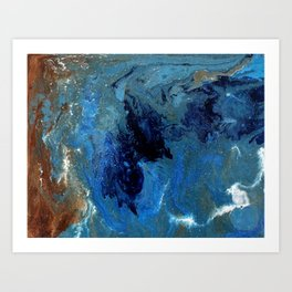 Copper Sands Against Deep Blue Sea Art Print