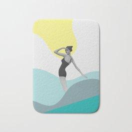 Swimmer Collage Bath Mat
