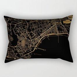Black and gold Neapol map Rectangular Pillow