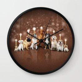 Hot Dog, It's Hanukkah! Wall Clock