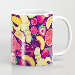 Fruit Cocktail on Blue Coffee Mug