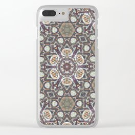 Mandala Of The Earth Clear iPhone Case