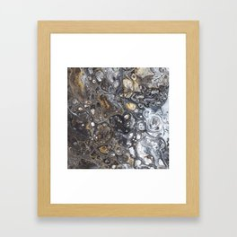 Golden Bubbles Framed Art Print