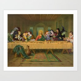 Tax Collectors and Sinners: Pop Culture Last-Supper Art Print