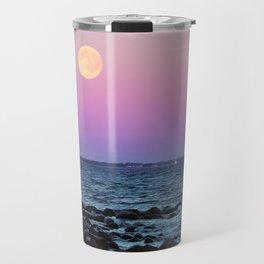 Full Moon on Blue Hour Travel Mug