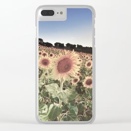 """""""Sunflowers"""" Vintage summer.... Clear iPhone Case"""