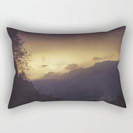 Chasing the night away Rectangular Pillow