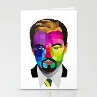 leonardo dicaprio Stationery Cards featuring Leonardo DiCaprio - popart portrait by Dep's