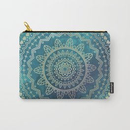 Mandala Meditation Green Carry-All Pouch