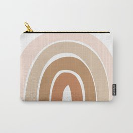 Bohemian Rainbow Neutral Warm Tone Carry-All Pouch