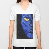 avatar V-neck T-shirts featuring Avatar by Paxelart
