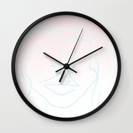 cotton candy princess Wall Clock