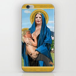 Nursing Madonna (A man and his daughter) iPhone Skin