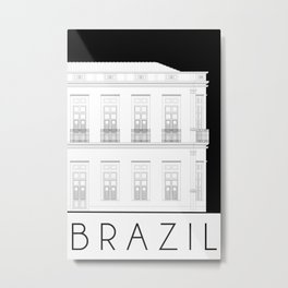 Brazil Facade Metal Print