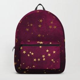 Fuchsia Gold Stars Backpack