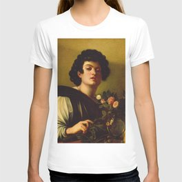 Caravaggio - Boy With A Carafe Of Roses T-shirt