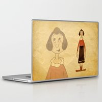 popeye Laptop & iPad Skins featuring Olive Oyl by Celine Billy