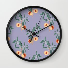 Peaches Don't Quit Wall Clock
