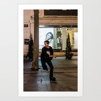sport Art Prints featuring Roller, sport by Sébastien BOUVIER