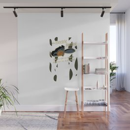 with a… HERRING! Wall Mural