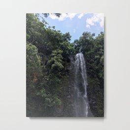 Uluwehi Falls Metal Print
