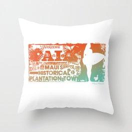 Welcome to Paia. Maui, Hawaii Throw Pillow