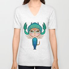 scorpio zodiac sign Unisex V-Neck