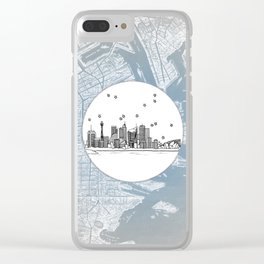 Sydney, New South Wales, Australia City Skyline Illustration Drawing Clear iPhone Case