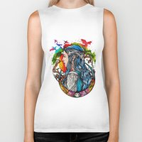 elf Biker Tanks featuring Celtic elf by Raquel C. Hita - Sednae