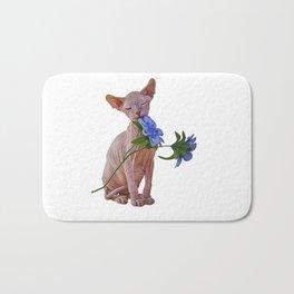 Drawing Sphynx kitten Bath Mat