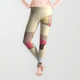 Salmon in Autumn Leggings