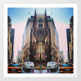 New York Trippy Art Print