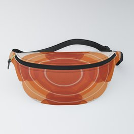 Earthy Red Scandinavian Floral Design Fanny Pack