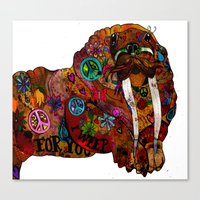 walrus Canvas Prints featuring Walrus by Holly wilson