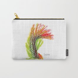 Tillandsia Funckiana Air Plant Watercolors Carry-All Pouch