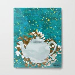 Tea Kettle in Sunlight Metal Print