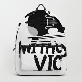 without my violin without me Backpack