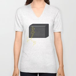 Electric/Acoustic Lightning Unisex V-Neck