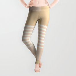 Marfa Abstract Geometric Print in Beige Leggings
