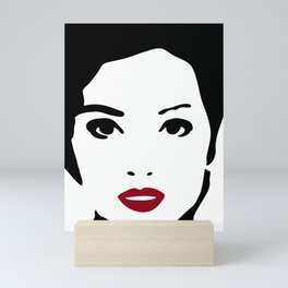 Fashion Illustration 301 Fashion Model Portrait Mini Art Print
