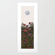 Chase the moon Art Print