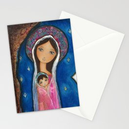 Nativity Star III by Flor Larios Stationery Cards