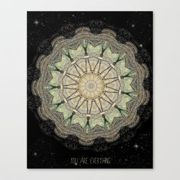 You are Everything Mandala Canvas Print