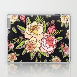 Pink roses on black. Laptop & iPad Skin