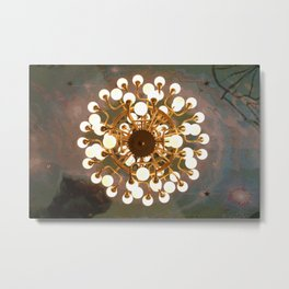 The gold chandelier Metal Print