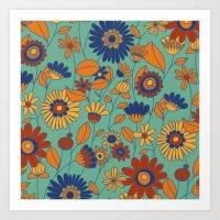 Flowers in colors Art Print