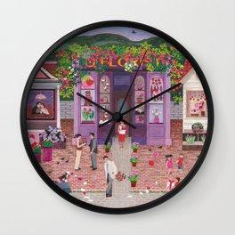 Be Mine Folk Art Wall Clock