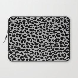 Neon Gray Leopard Laptop Sleeve