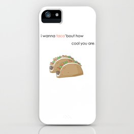 Taco Love iPhone Case